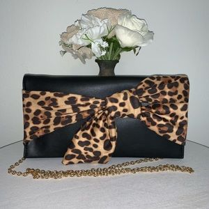 Leopard Bow Tie Evening Purse